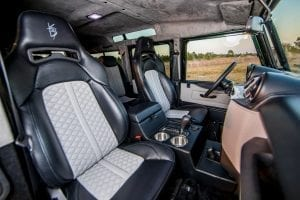 custom restored defender interior