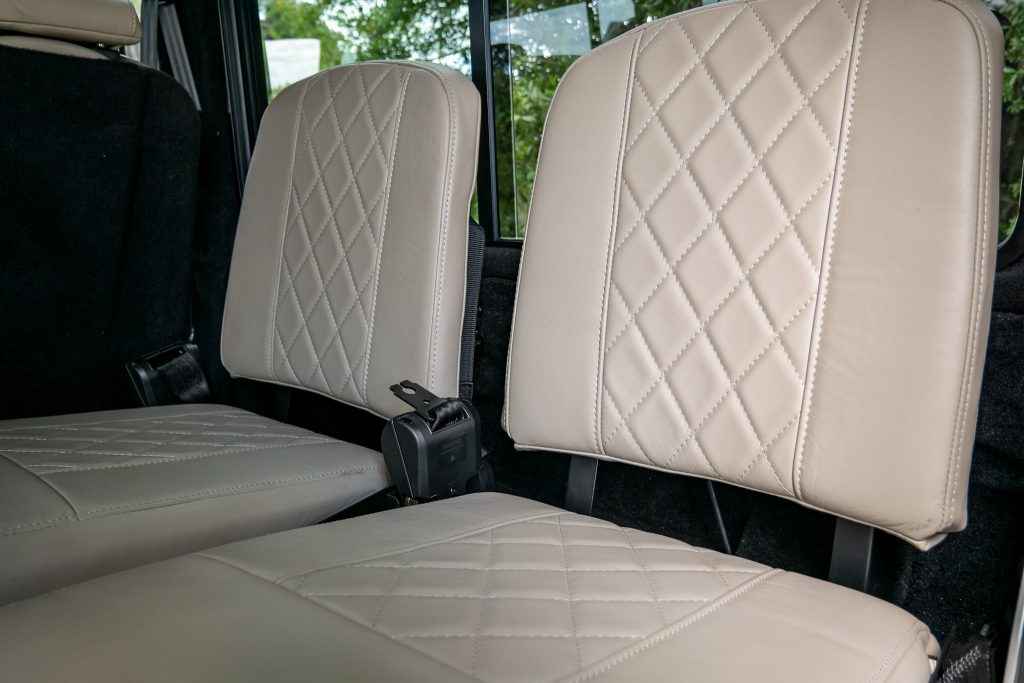custom defender 110 interiorr
