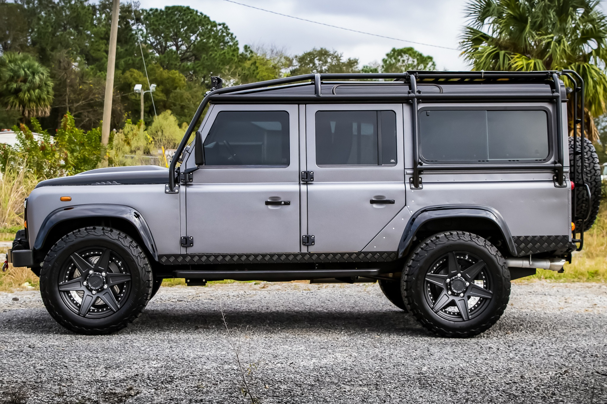 custom restored land rover defender ecd