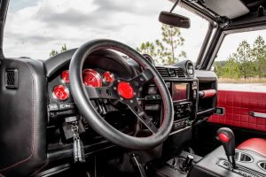 custom land rover defender interior