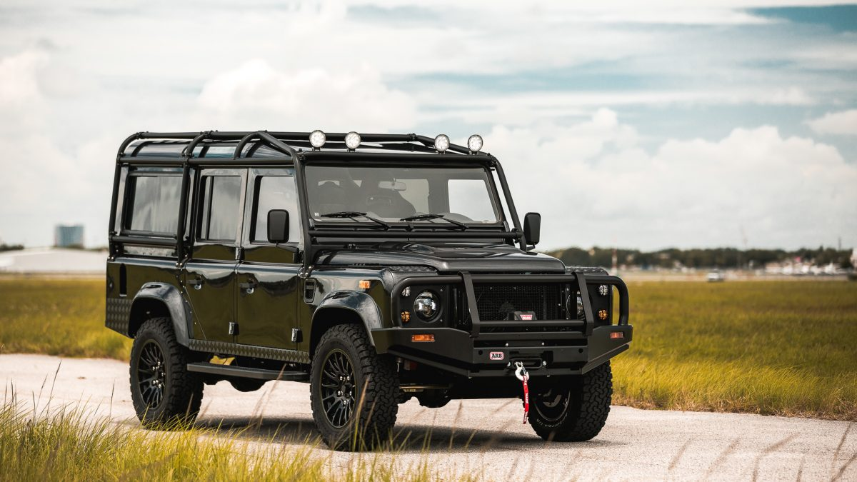 restored land rover defender 110