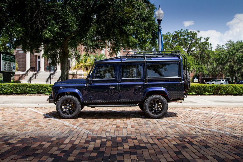 custom defender 110 loire blue