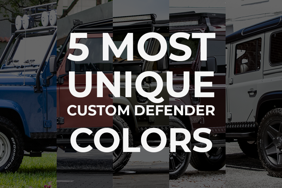 custom land rover colors