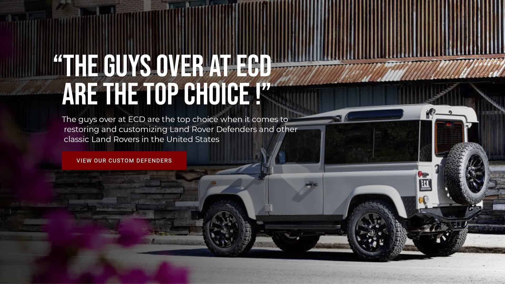 Defender 110 And 90 For Sale In Usa Custom Land Rover Defenders