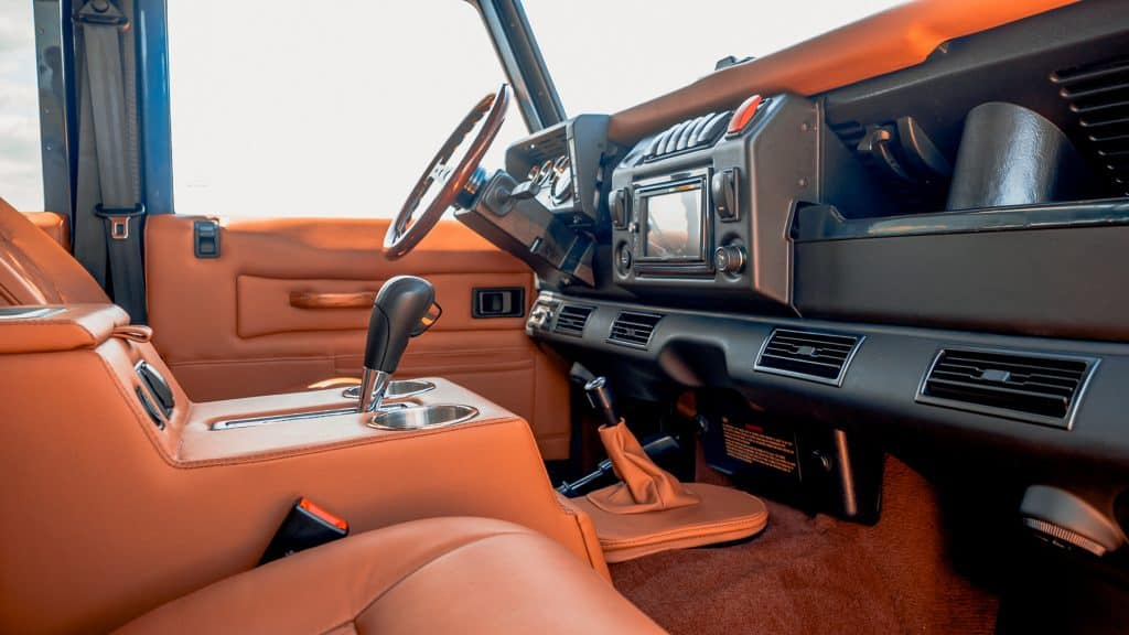 custom defender 110 interior