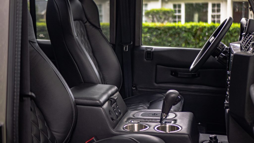 custom defender interior